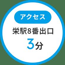 栄駅8番出口3分